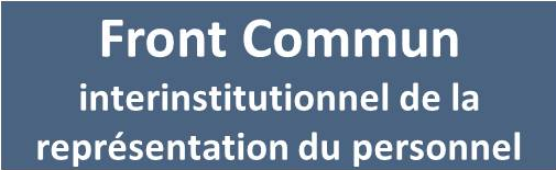 front commun interinstitutionnel de la repr�sentation du personnel des institutions europ�ennes